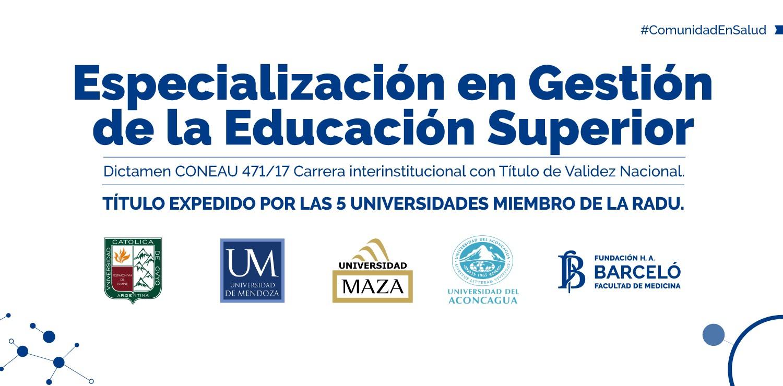 Especialización en Gestión de la Educación Superior (RADU)